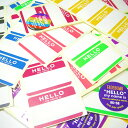 【7色70枚セット】FADEBOMB-7Color-Hello Name Badge Label『HELLO my name is』名札ラベル宛名シール【メール...