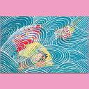 クリスマスカード 和風 【F20-582】扇子 波 グリーティングカード 多目的 メッセージカード 和紙 冬 福井朝日堂
