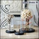 ガラスドーム グラスドーム ディスプレイ ロマンドームL 木製台座付き