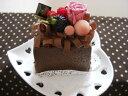 プリザーブドフラワー チョコレートケーキ