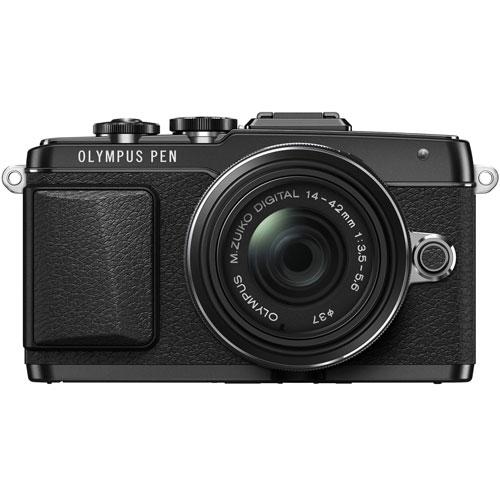 オリンパス PEN Lite E-PL7 14-42mm EZ レンズキット ブラック
