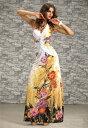 ロングドレス キャバドレス ドレス 綺麗で華やかな和柄デザイ...