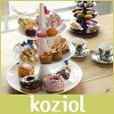 アフタヌーンティースタンド koziol ( コジオル ) フルーツ ケーキ 皿 BABELL ( バベル ) フルーツディッシュ / L ホワイト .