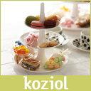 アフタヌーンティースタンド koziol ( コジオル ) フルーツ ケーキ 皿 BABELL ( バベル ) フルーツディッシュ / S ホワイト .の写真
