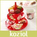 アフタヌーンティースタンド koziol ( コジオル ) フルーツ ケーキ 皿 BABELL ( バベル ) フルーツディッシュ / S レッド .