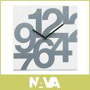 【ポイントUP中!】 イタリア製 壁かけ デザイン時計 ! クォーツ 新築祝い・開店祝い に!NAVA / ナヴァ Time square numeri soft ウォールクロック  掛け時計  ホワイト.