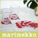 【ポイントアップ中!】マリメッコ ウニッコ柄marimekko UNIKKO コースター/レッド.