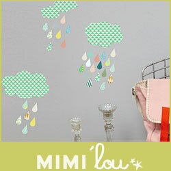 MIMI'lou(ミミ・ルゥ)ウォールステッカー.