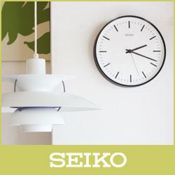 【 送料無料 】SEIKO ( セイコー ) 電波時計STANDARD ANALOG CLOCK( スタンダード アナログクロック )Lサイズ / ブラック ( KX308K )【RCP】.