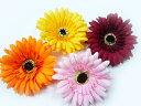 コサージュ・アクセサリー◆ヘアーアクセサリーにもなる手作りの造花◆大きいガーベラの髪飾り&コサージュ(1個)