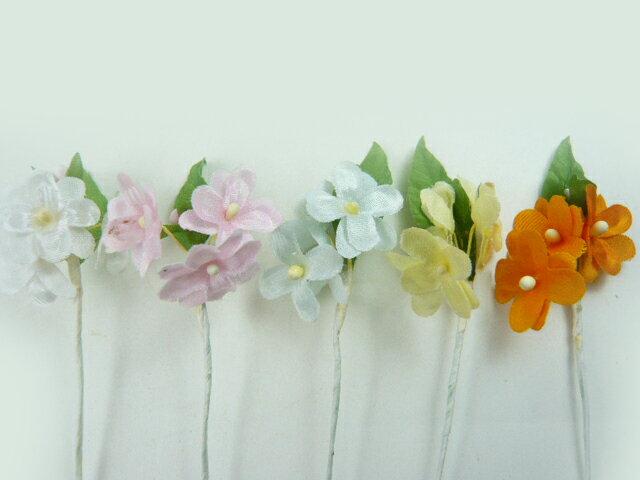 造花◆ラッピング フラワー 小花208★特価★髪飾りの作り方を動画で紹介★アウトレット・超特価
