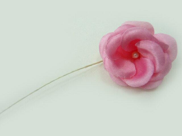 造花◆サテンの咲きバラミニ♪Jローズ ピンク★特価★R