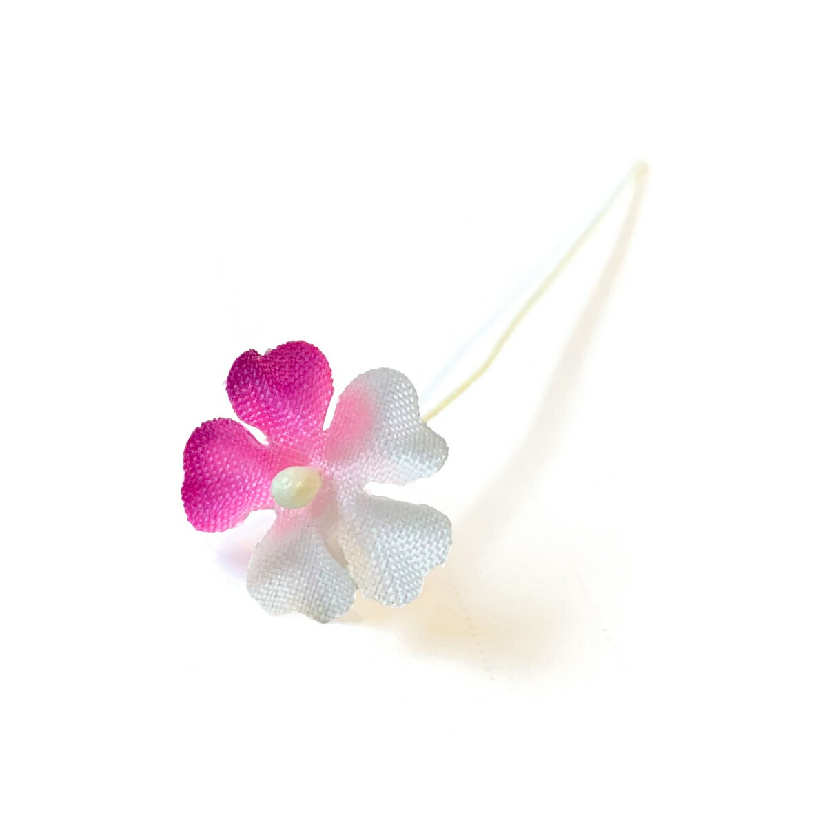 【アウトレット】造花 桜草・1枚ぼかし(1本) 髪飾りを作る小さなフラワー 使い方を動画で紹介