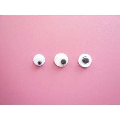 動眼 5mm・6mm(目玉小)・6mm(目玉大)(1個) 活眼・ムービングアイ 動く目玉