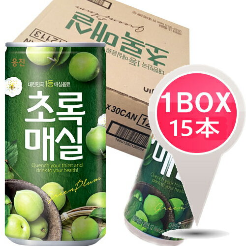 ウンジン梅ジュース「缶」180ml1BOX15本韓国食品/韓国/韓国飲料/韓国飲み物/韓国ジュース/