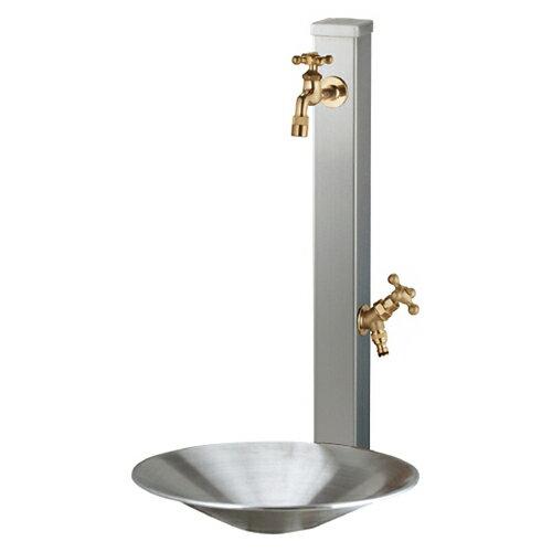 【立水栓 立水栓セット】【送料無料】UNISON 立水栓セットスプレスタンド ステンレスシ…...:famitei:10032390