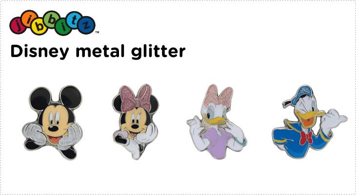 スマホからエントリーで10倍【クロックス jibbitz ジビッツ】Disney metal glitter/ディズニー メタル グリッター