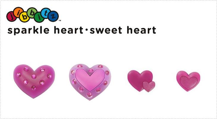 【クロックス jibbitz ジビッツ】sparkle heart ・ sweet heart