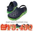 crocs【クロックス】duetsport marbled clog/デュエット スポーツ マーブルド クロッグ