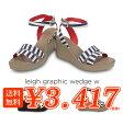 ショッピングウェッジ crocs【クロックス レディース】leigh graphic wedge w/レイグラフィック ウェッジ ウィメン