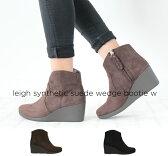 crocs【クロックス レディース】leigh synthetic suede wedge bootie/レイ シンセティックスエード ウェッジ ブーティ ウィメン