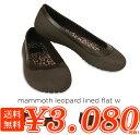 crocs【クロックス レディース】 mammoth leopard lined flat/マンモス レオパード フラットウィメン