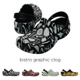 crocs【クロックス】bistro graphic clog/ビストロ グラフィック クロッグ
