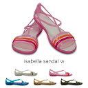 ノベルティcrocs【クロックス レディース】isabella sandal w/イザベラ サンダル ウィメン