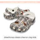 【クロックス crocs キッズ b】drew classic chevron kids/ドリュー クラシック シェブロン キッズ