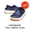 ショッピングcrocband 【クロックス crocs メンズ レディース】corcband full force clog/クロックバンド フル フォース クロッグ/ネイビーxホワイト