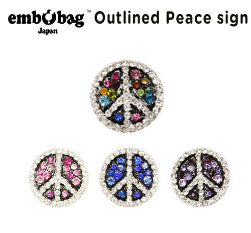 【クロックス embobag エンボバッグ】Outlined Peace sign/アウトライン ピースサイン