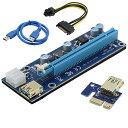 ライザー エクステンダー マイニング ビットコイン 送料無料 BabbleCom PCI-E 1X to 16X カード USB 3.0 PCI-E Express 拡張ケーブル 採掘 4pin 6Pin PCI-Eと15Pin SATA