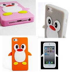 iphone5用保護ケース12色ペンギン★スマートフォンカバーシリコンケース
