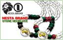 送料無料 NESTA BRAND/ネスタブランド パワーストーンネックレス 2種:(JAMAICAN&RASTA) レゲエ HIPHOP/ヒップホップ/B系/ストリート/ネスタ