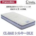 フランスベッド社製セミダブルマットレス Cloudia CL-BAEシルキーDLX|セミダブルサイズ マットレス セミダブル フランスベット フランス ベッド ベッドマットレス ベット ベッドマット ベットマット ベッド用マットレス