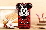 【送料無料】【全5種類】ディズニーキャラクター手書き風イラスト iPhone5/5Sケース シリコン製ソフトカバー(ミニー/Minnie)