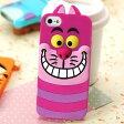 【送料無料】【全4種類】ディズニーキャラクター iPhone5/5Sケース シリコン製ソフトカバー(チシャ猫/Cheshire Cat)