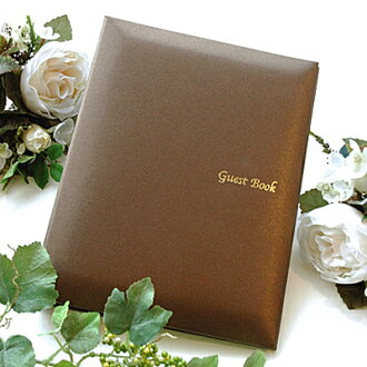 'Disabled' guest book Mocha チェキタイプ ( cheque card 60 pieces, Ribbon without ), wedding guest book guest book