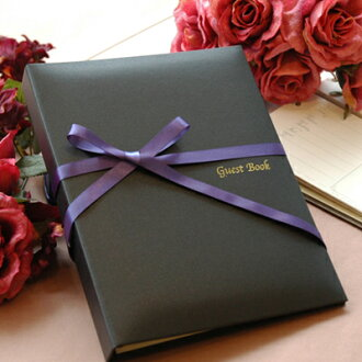 Guest book night black チェキタイプ ( cheque card 60 dated ) / non / Wedding guest books guestbook
