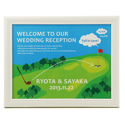 パールフレームウェルカムボード ゴルフ/結婚式ウェルカムボード