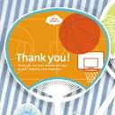 【オリジナル・名入れ・キット・メッセージ・プロフィール・夏挙式】【二次会やお見送りギフトに】プチサンクスうちわ バスケットボール(30部から)
