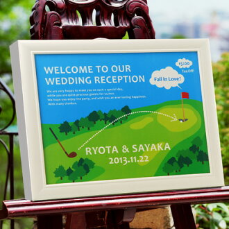 Pearl frame welcome Board Golf and weddings welcome Board