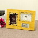 「両親へのプレゼント」サンクスオルゴール(クロック)ナチュラル/リボンラッピング付/結婚式両親へのプレゼント