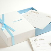 ボックス型カード式芳名帳 アジュール (スタンダード芳名カード80枚付) /結婚式芳名帳ゲストブック