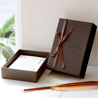 """Writing reviews free shipping"" box type card guest book boelte ( standard 80 guest cards with ), wedding guest book guest book"