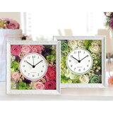 プリザーブドフラワー時計「ローザ」