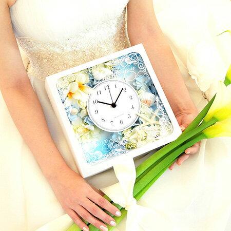 【国産時計】「シェリーナアクア」花時計|結婚式ご両親へのプレゼント