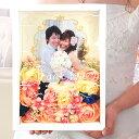 \想いを込めて贈る感謝状/お写真入りフラワー感謝ボード「ソフィー」/結婚式両親へのプレゼント