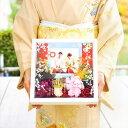 \1月挙式もまだ間に合う!/和装写真にピッタリ感謝ボード(スクエア)「茜」/結婚式/両親へのプレゼント