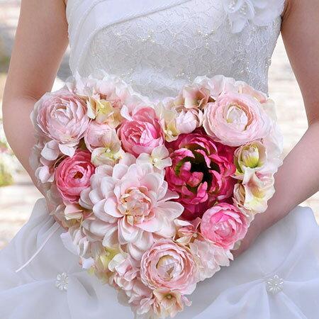 【SNS話題】花嫁の手紙 木製レーザー刻印「ハートフラワー」結婚式